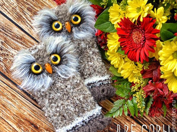 Варежки в подарок у мгазина Две совы   Ярмарка Мастеров - ручная работа, handmade