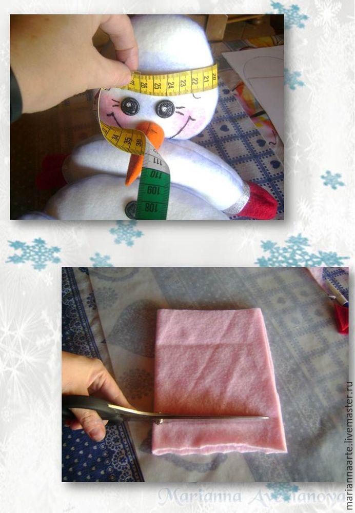 Мастер-класс по созданию забавной новогодней игрушки «Снеговичок-тюфячок», фото № 28