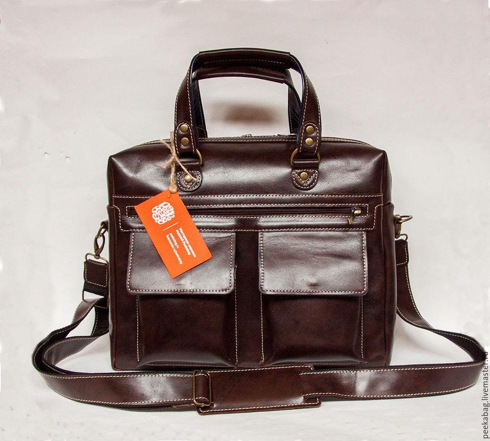 мужская кожаная сумка, готовая работа, купить готовую работу