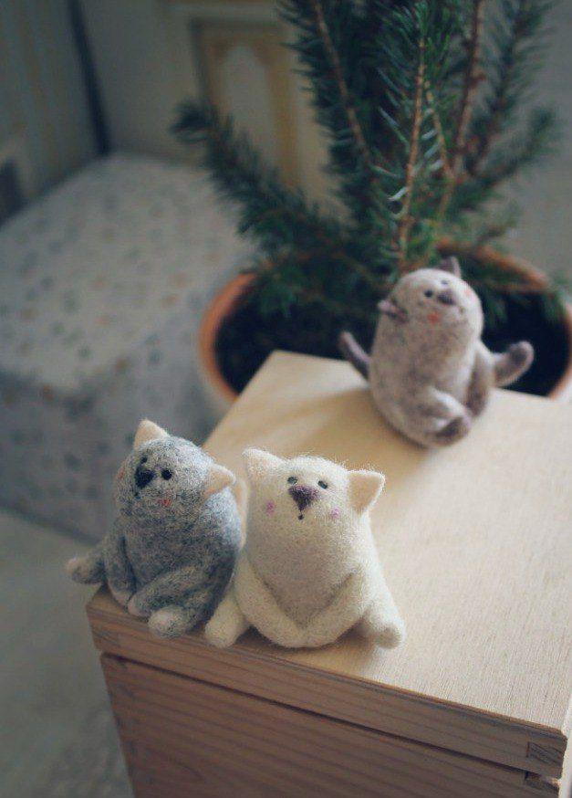 шерсть, мастер-класс, обучение, валяние миниатюры, петербург, котик