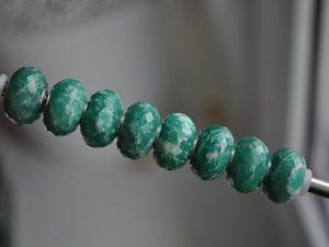Натуральный амазонит для Pandora и Trollbeads в наличии. Ярмарка Мастеров - ручная работа, handmade.