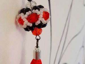 Изготавливаем брелок-шарик из бисера и бусин | Ярмарка Мастеров - ручная работа, handmade