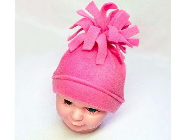 Детская шапочка из флиса быстро и легко   Ярмарка Мастеров - ручная работа, handmade