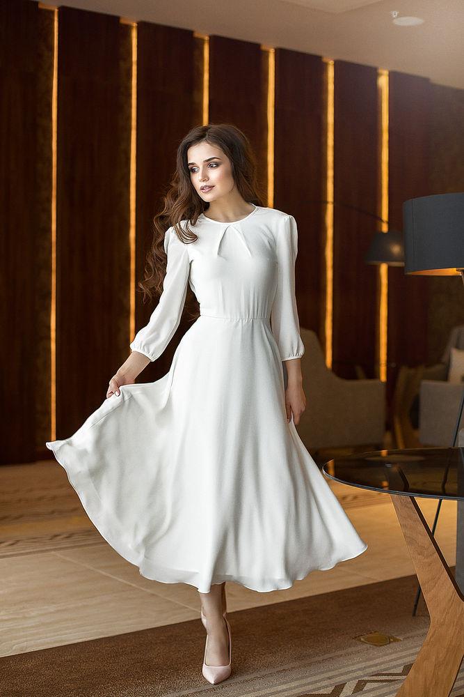 платье на выпускной, платье миди