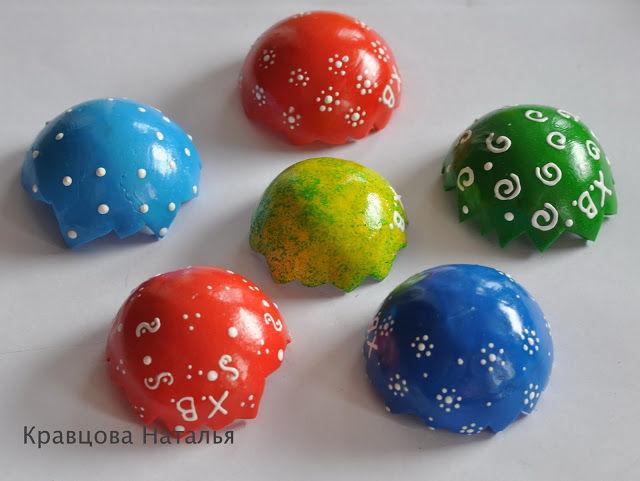 пасхальные яйца из пластики