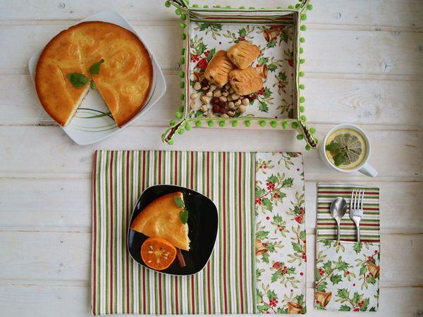 Новогодний комплект для сервировки стола в Зеленом цвете | Ярмарка Мастеров - ручная работа, handmade