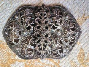 АУКЦИОН: Антикварная серебряная пряжка, Франция, 1900-е гг.. Ярмарка Мастеров - ручная работа, handmade.