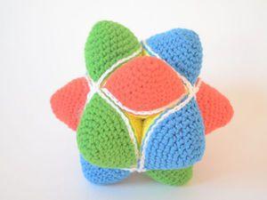 Видео мастер-класс: как связать развивающий мячик-пазл для малыша. Ярмарка Мастеров - ручная работа, handmade.