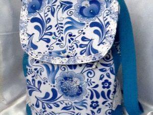 Аукцион на рюкзачок Гжель. Ярмарка Мастеров - ручная работа, handmade.