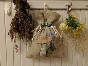 Поспели льняные мешочки для грибов. Ярмарка Мастеров - ручная работа, handmade.