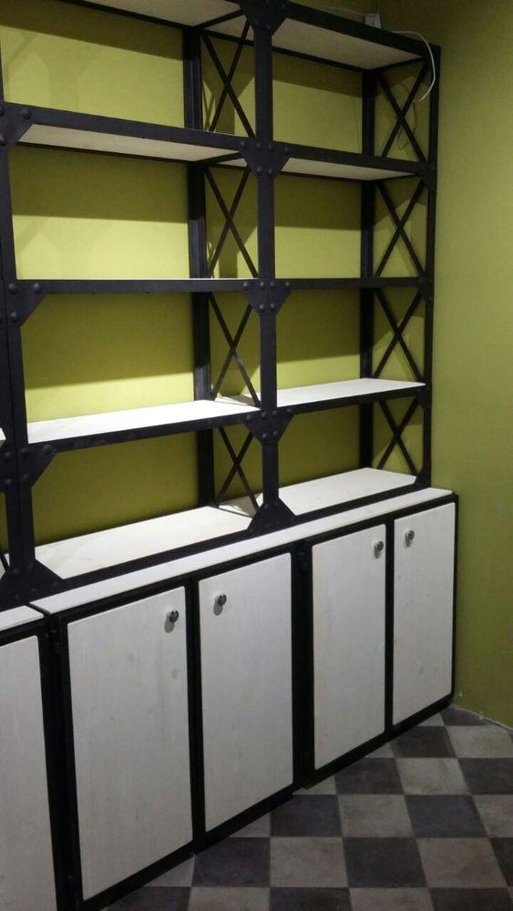 мебель для бутиков, стеллажи лофт в москве