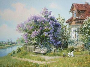 Расцвела  сирень - черёмуха  в  саду. | Ярмарка Мастеров - ручная работа, handmade