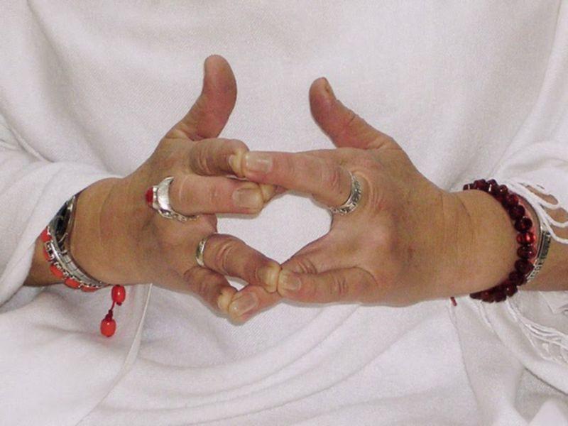 сурабхи мудра, йога для рук, мудры