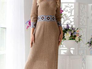 Аукцион на ажурное вязаное платьице !!!Старт 3000 р.!!!. Ярмарка Мастеров - ручная работа, handmade.