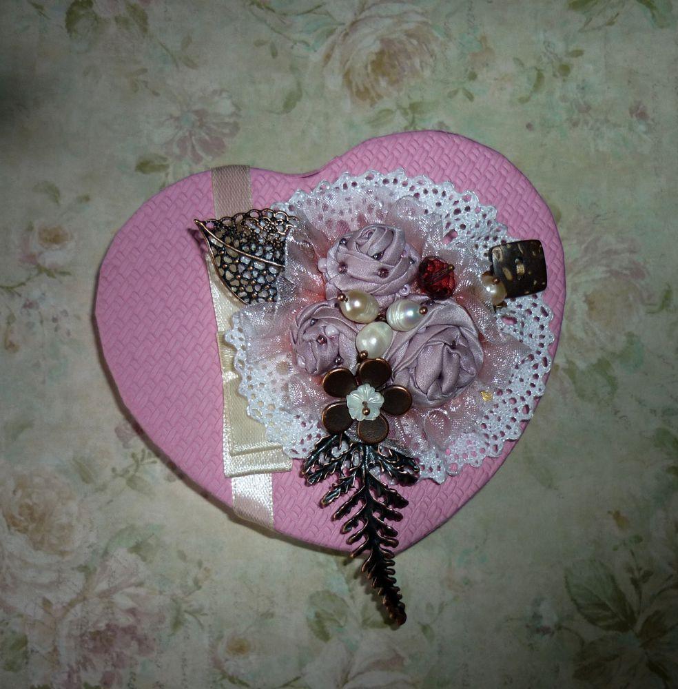 брошь-цветок, розовая брошь