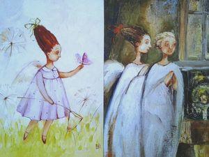 Осталось несколько принтов с ангелами.25% в помощь Оле Плотцевой. Ярмарка Мастеров - ручная работа, handmade.