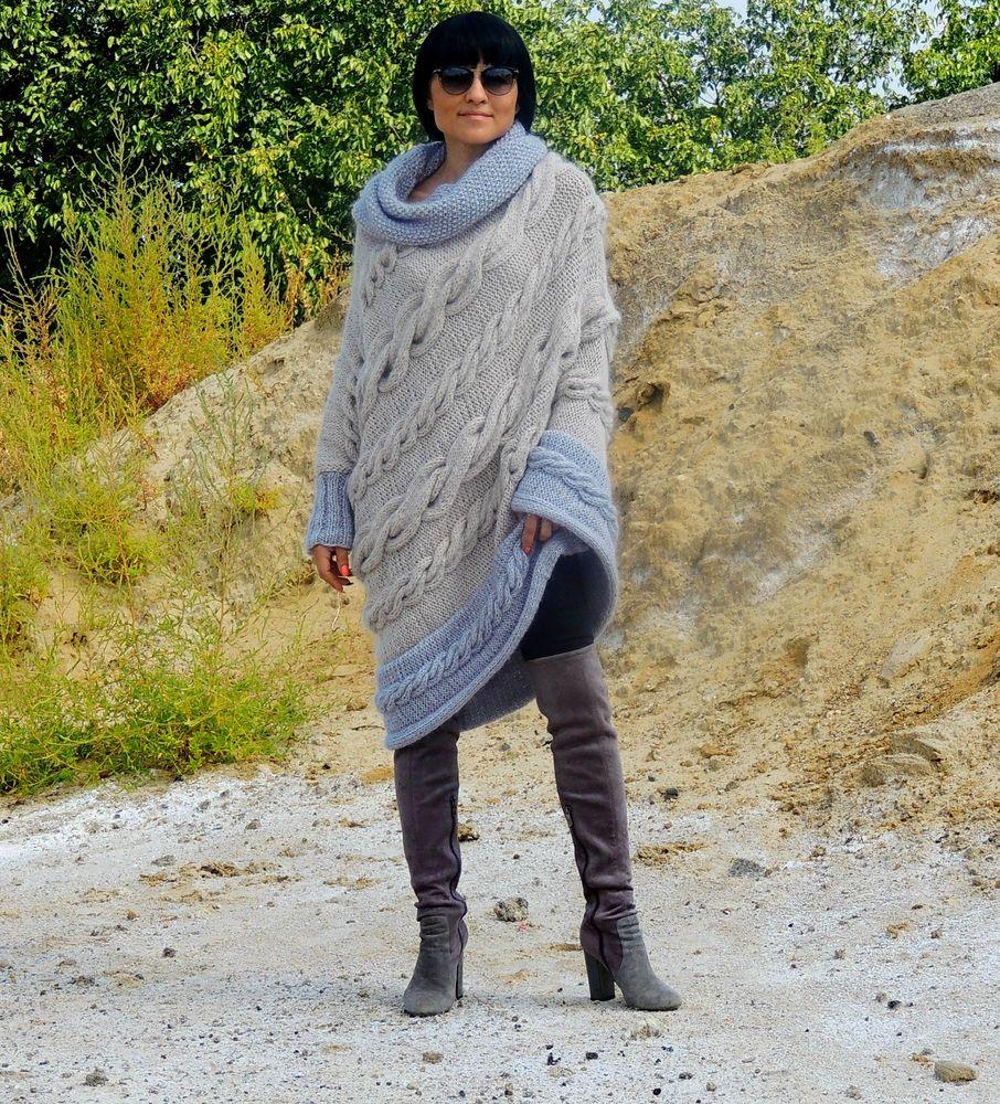 пончо вязаное