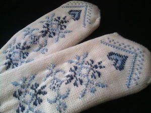 Варежки для любимой   Ярмарка Мастеров - ручная работа, handmade