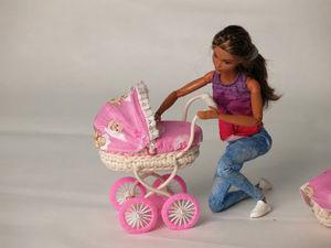Куклы играют в куклы. Самая миниатюрная и реалистичная коляска. Ярмарка Мастеров - ручная работа, handmade.