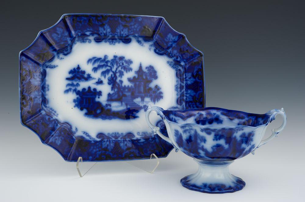 Flow blue — антикварная красота из Англии, фото № 29