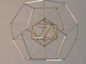 Полигональные каркасные объекты в интерьере. Ярмарка Мастеров - ручная работа, handmade.
