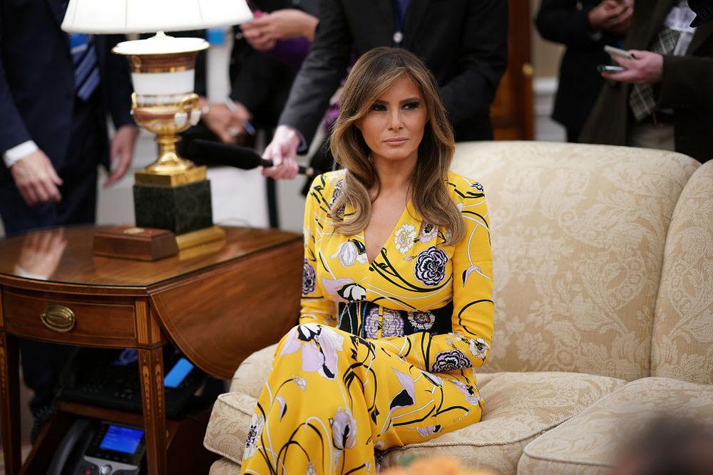 Безупречный стиль первой леди США Мелании Трамп, фото № 17