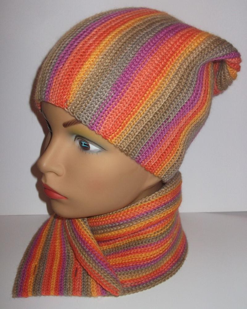 вязаные шарфики, мастер-класс по вязанию