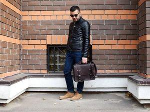 """Классический мужской портфель """"Postman bag"""". Ярмарка Мастеров - ручная работа, handmade."""
