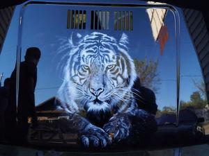 Аэрография тигра на авто. Ярмарка Мастеров - ручная работа, handmade.