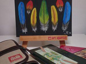 Видео мастер-класс: рисуем перья сухой пастелью. Ярмарка Мастеров - ручная работа, handmade.