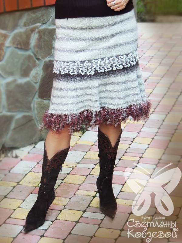 зимняя юбка