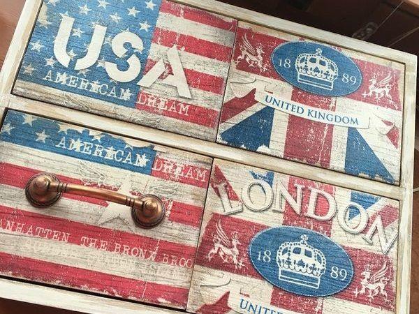 МК «Комод Usa&England» | Ярмарка Мастеров - ручная работа, handmade