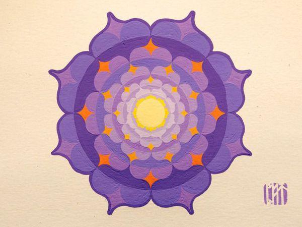 Магия фиолетового и 7-ая чакра | Ярмарка Мастеров - ручная работа, handmade