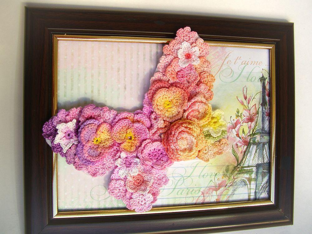 Вязание картин из цветов 591