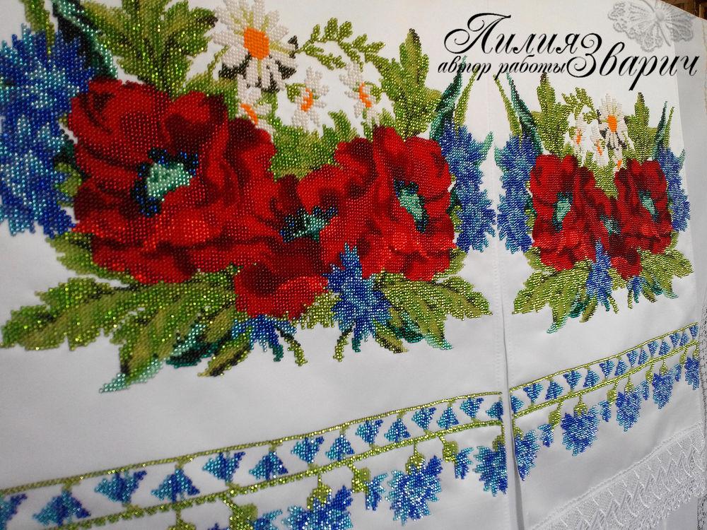 Вышивка бисером рушник свадебный 20