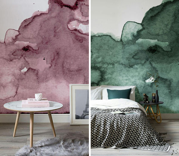 The Tenderest Interior: Abstract Watercolours on Modern Wallpapers, фото № 6