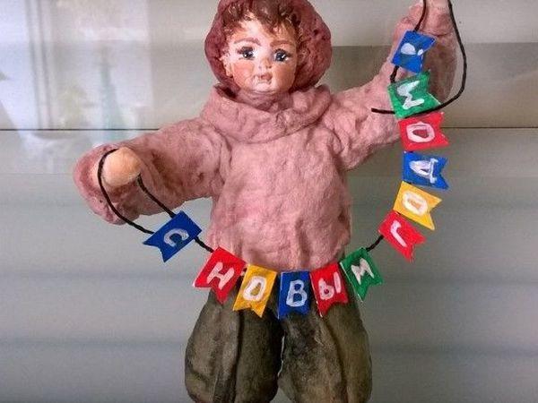 МК Елочная игрушка из ваты | Ярмарка Мастеров - ручная работа, handmade