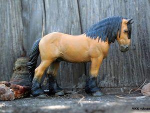 Новинка! Перекрас фигурки лошади Беркут (арденский жеребец). Ярмарка Мастеров - ручная работа, handmade.