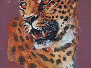 """Процесс рисования (Speed Drawing) — """"Леопард"""" (сухая пастель). Ярмарка Мастеров - ручная работа, handmade."""