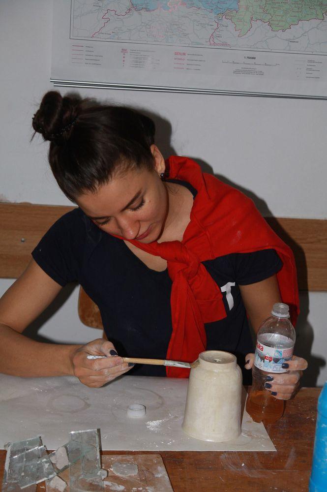 гипс, уроки керамики