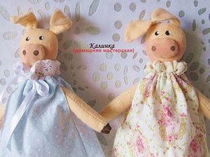 Две хорошенькие свинки. Ярмарка Мастеров - ручная работа, handmade.