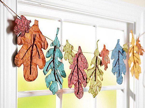 Декор интерьера осенними гирляндами | Ярмарка Мастеров - ручная работа, handmade