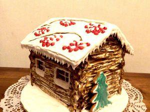 Вариант оформления крыши пряничного домика | Ярмарка Мастеров - ручная работа, handmade