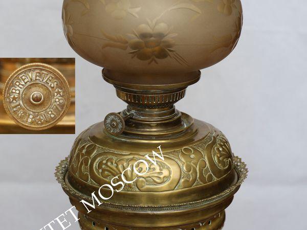 РАРИТЕТИЩЕ Лампа керосиновая бронза латунь 25 | Ярмарка Мастеров - ручная работа, handmade