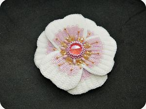 Создаем брошь-цветок «Аврора» | Ярмарка Мастеров - ручная работа, handmade