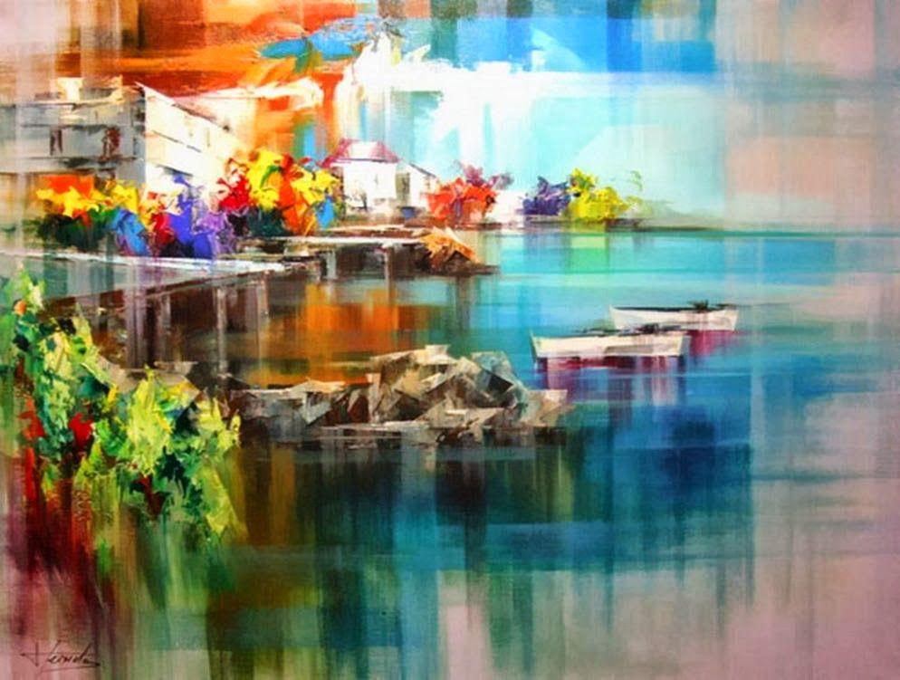 Особое очарование картин испанского художника Josep Teixido: смелая игра цвета и ничего лишнего   6a28a349a3cdc8cc77f7273d180g