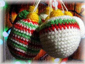 Вяжем новогодние ёлочные игрушки (шарики). Ярмарка Мастеров - ручная работа, handmade.