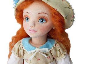 """Текстильная шарнирная кукла """"Ульяна"""", видео обзор+выкройка. Ярмарка Мастеров - ручная работа, handmade."""