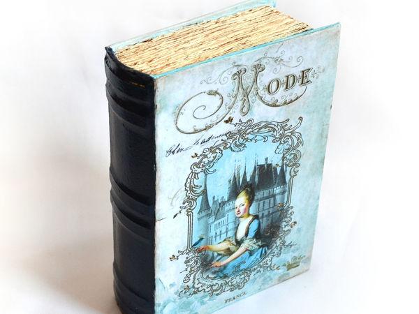 Шкатулка-книга в технике декупаж | Ярмарка Мастеров - ручная работа, handmade