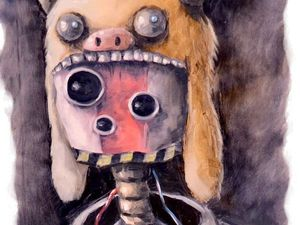 Творческий ежедневник. День 29. Этюд «В ночном лесу». Ярмарка Мастеров - ручная работа, handmade.